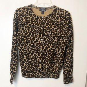 Lands' End Cheetah Print Cardigan